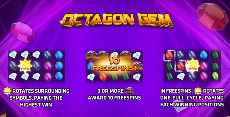 เกมOCTAGON GEM ที่เก็บเกี่ยวกำไรได้มากมาย